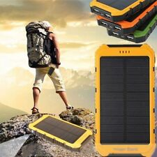 18000mAh Solar Panel 2A 1A Battery Power Bank Portable Phone Charger Lot AA
