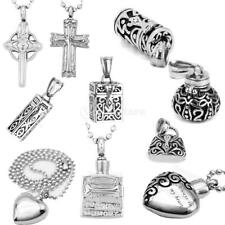 Cremation Jewelry Keepsake Memorial Urn Necklace Funnel Pendant Necklace Accs