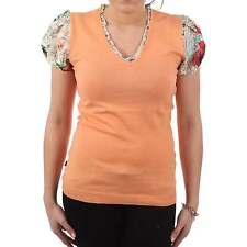 BLAUER USA Ladies knit T-Shirt COLLO in Orange