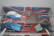 NEW DISNEY STORE SAVE QUEEN CARS 2 DIE CAST SET 4 PC. TALKING, QUEEN, MILES 1:43