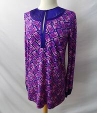 ETCETERA PINK PURPLE TUNIC BLOUSE SHIRT TOP sz 00 0 2 4 6 8 10 NEW $225