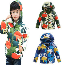 Kids Boys Toddler Hoodie Warm Camouflage Padded Parka Thick Coat Jacket Outwear