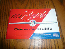 1957 Buick Owners Guide Vintage - Glove Box -