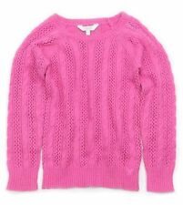 NWT 77kids by American Eagle Girls Size 4 or 5 Years Pink Cable Textured Sweater