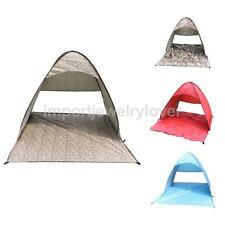 1~3 Person INSTANT POPUP CAMPING FISHING ANTI-UV FAMILY TENT Shade Shelter