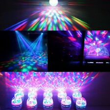 Auto Rotating 3W E27/B22 RGB Crystal Ball Stage Light Bulb Disco Party LED Lamp