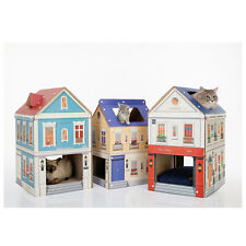 NEW Cardboard Cat Tower Scratch Post Pet Toy House London Newyork Santorini