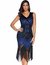 Flapper Girl 1920s Sequined Inspired Beaded Gatsby Flapper Club Dress Plus Size