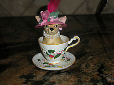 COLLECTIBLE 'AYE CHIHUAHUA' TEACUP CHIHUAHUA FROM WESTLAND GIFTWARE EXCELLENT UC