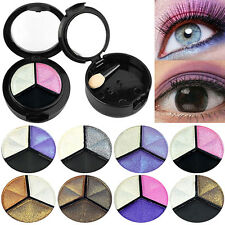 3 COLORS EYESHADOW NATURAL SMOKY COSMETIC EYE SHADOW PALETTE SET BEAUTY STUNNING