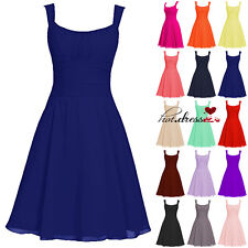 STOCK Short Formal Wedding Bridesmaid Dresses Evening Prom Party Ball Gowns 6-20