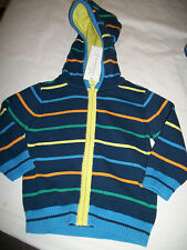 * NWT NEW BOYS First Impressions Knit STRIPED Hoodie SWEATER 12M 18M