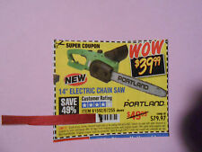 """Harbor Freight 49% off 14"""" portland electric chain saw 2/9/2017"""