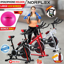 Norflex Spin Bike Flywheel Fitness Commercial Exercise Indoor Home Workout Gym E
