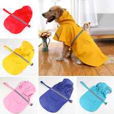 Dog Rain Coat Pet Jacket Puppy Outdoor Waterproof Coat Hooded Raincoat Plus size