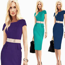 Womens OL Formal Office Cocktail Evening Party Slim Tunic Summer Pencil Dress