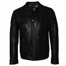 Ashwood Black Leather Mens Biker Jacket