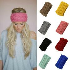 Ladies Flower Headband Hairband Winter Ear Warmers Knitted Crochet Turban