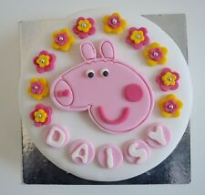 Edible Peppa Pig Princess Cake Topper Birthday Decoration Icing  Personalised