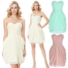 GK Formal Strapless Sweetheart Chiffon Ball Cocktail Evening Prom Party Dress