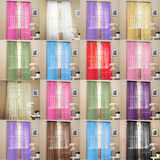 2 Panels Solid Sheer Voile Window Curtains Drape Treatment Scarf  60 x 84 Inch