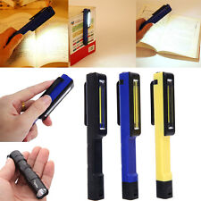 Bright COB LED Pocket Pen Torch Magnetic Inspection Lamp Mini Flashlight Light