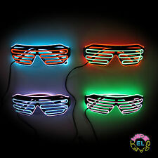 EL Glasses – Glow Shutter Glasses in Black - Two Colour with Choice of Drivers