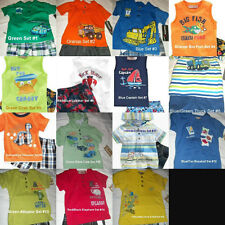 *NEW BOYS 2PC or 3PC KIDS HEADQUARTERS POLO SUMMER OUTFIT SET 3/6M 12 18 24 3 4