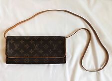 Authentic Louis Vuitton Monogram POCHETTE TWIN GM Pouch Shoulder Strap