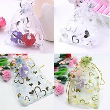 50/100 Gauze Organza Bags Jewelry Storage Pouch Wedding Gift Candy Bag 9x12cm