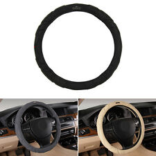 Black/Gray/Beige Auto Car Steering Wheel Covers 38CM for Audi Mercedes-Benz BMW