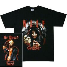OFFICIAL LICENSED - WASP - GOT BLOOD? T SHIRT HEAVY METAL