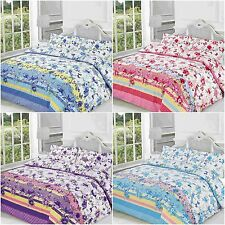 NEW BLOSSOM FLORAL DUVET QUILT COVER BEDDING SET SINGLE DOUBLE KING SUPERKING