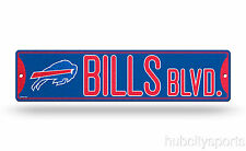 "Buffalo Bills Street *Bling* Sign NEW!!! 4""X16"" ""Bills Blvd."" Man Cave NFL"