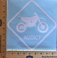 DIRT BIKE ADDICT DECAL STICKER 18 COLORS AVAILABLE HIGH QUALITY VINYL CAR TRUCK