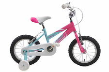 """14"""" WHEEL MISTY GIRLS BIKE WITH STABILISERS AGE 4+ PINK AND BABY BLUE - D9791"""