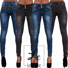 Sexy Ladies Skinny Jeans Womens Low Waist Trouser Blue denim Size 6 8 10 12 14