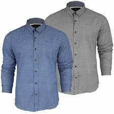Mens Shirt Brave Soul Check Blaze Flannel Brushed Cotton Long Sleeve Casual Top