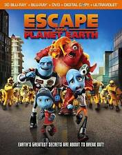 Escape From Planet Earth (Blu-ray/DVD, 2013, 4-Disc Set, Includes Digital...