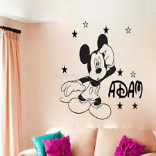 Mickey Mouse wall sticker Personalised any name boys wall art AFC4 DECAL DECOR