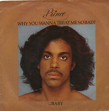 """Prince """"Baby - Why you wanna treat"""" Warner Bros Records Pop Soul Rock Funk 45"""