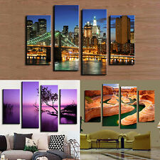 4X Frameless Canvas Painting Pictures Sketching Home Living Room Art Decor Retro