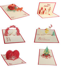 3D Luxury Pop Up Christmas Wedding Birthday Valentine Greeting Cards Kirigami