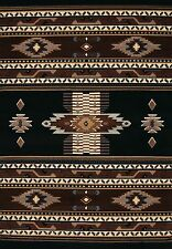 United Weavers Manhattan Southwest Phoenix Black Soft Polyproplene Area Rug