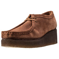 Clarks Originals Peggy Bee Womens Wedges Cola Suede New Shoes