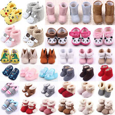 Cute Toddler Baby Boys Girls Winter Cotton Infant Warm Snow Boot Soft Crib Shoes