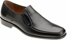 Mezlan Men's 2555 Apron Toe Black Leather Slip On Loafer Dress Shoe