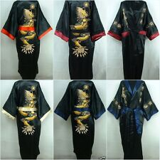 Oriental Men Kimono bathrobe Nightwear Embroidery Dragon Dressing Gown Bath Robe