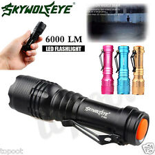 Super Bright 6000LM CREE Q5 AA/14500 3 Modes Zoomable LED Flashlight Torch Light