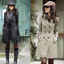 Women's Slim Fit Trench Charm Double-breasted Coat Fashion Jacket FNHB